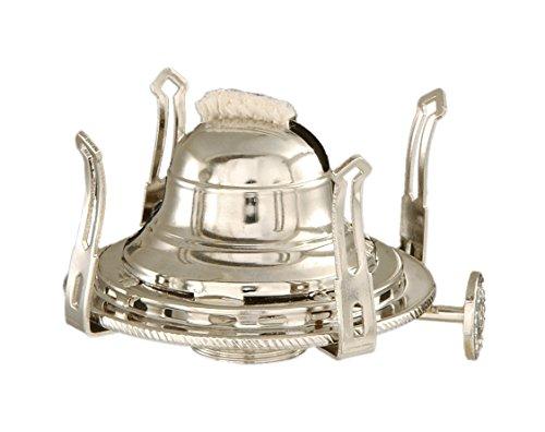 Anne Oil Lamp - B&P Lamp #1 Queen Anne Burner w/Nickel Plated Finish