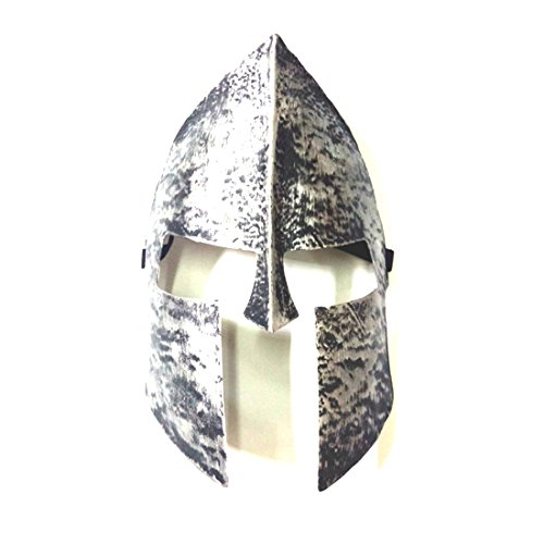 [Exotic Store Spartan 300 Warrior Motorcycle Masquerade Cosplay Costume Cartoon Outdoor Party Mask Funny Face Mask Halloween (Silver)] (300 Spartan Halloween Costume)