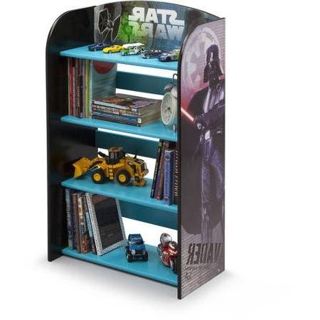 Delta Children Nursery Colorful Furniture Star Wars 4 Shelves Bookshelf Made of Engineered Wood