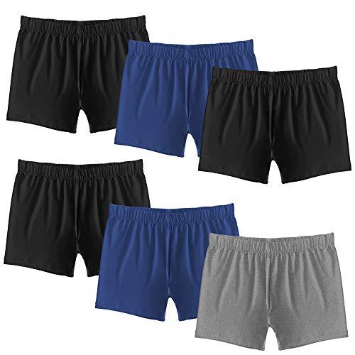 Popular Girl's Premium Playground Shorts - 6 Pack - Solids - M (7/8)