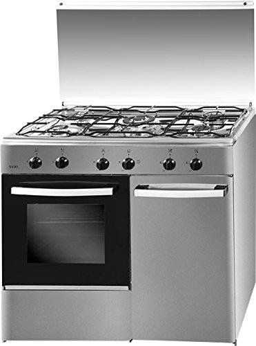 Svan Cocina SVK9551GBI 5 Fuegos Porta Bombonas INOX 90x60cm ...