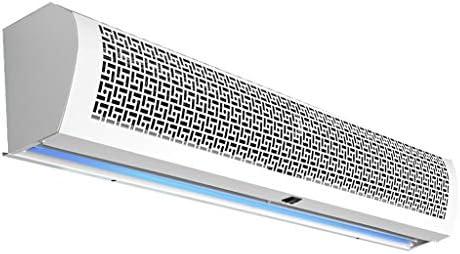 業務用/家庭用エアカーテン、白色超薄型合金防食2スピードシングルコールドプッシュボタンスイッチ付き、強力、静か、小型、軽量