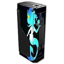 Volcano Lavabox DNA 200 Vape E-Cig Mod Box Vinyl DECAL STICKER Skin Wrap / Mermaid Holding Pearl Yellow Star Pin Blue Background