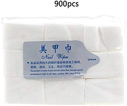 Paquete de 900 toallitas de algodón para quitar esmalte de uñas ...