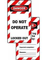 Centurion LOK090 Lockout tags-Danger Niet werken (Dubbelzijdig 10 pack), Nylon/A