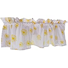 Crabtree Collection Yellow Curtain Valance for Windows Yellow Dandelion (16 x 60)