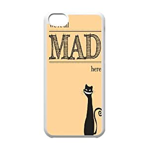 JJZU(R) Design Personalized Cover Case with We're All Mad Here for Iphone 5C - JJZU940686
