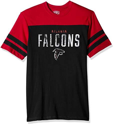 NFL Atlanta Falcons Men's OTS Cotton Yoke Stripe Tee, Washington, Large