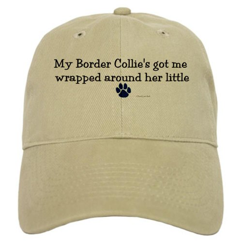 CafePress - Wrapped Around Her Paw (Border Collie) Cap - Baseball Cap Adjustable Closure, Unique Printed Baseball Hat