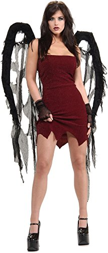 Rubie's Black Fallen Angel Sexy Tattered Gauze Wings ()