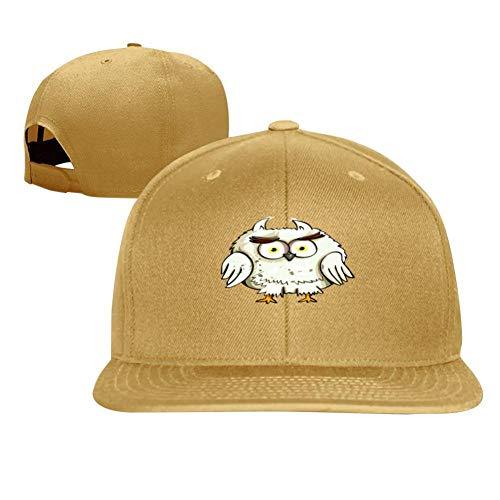 (Fun Cute Owl Fashion Men and Women General Truck Drivers Hip-Hop Baseball Caps Yellow)