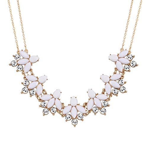 LIAO Jewelry Necklace Rhinestone Statement