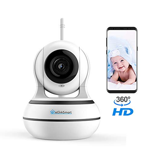 WiFi Camera Wireless Security Camera Pan Tilt Zoom Home Video Monitor eLinkSmart Two Way Audio IP Camera Recording 960P HD Night Vision Motion Detection Cloud Storage Onvif