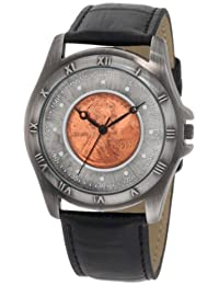 August Steiner Men's CN001S-AS Round Wheat Penny Antique Copper Collectors Coin Watch