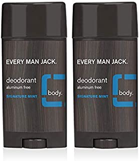 product image for Every Man Jack Deodorant - Signature Mint | 3-ounce Twin Pack - 2 Sticks Included | Naturally Derived, Aluminum Free, Parabens-free, Pthalate-free, Dye-free, and Certified Cruelty Free