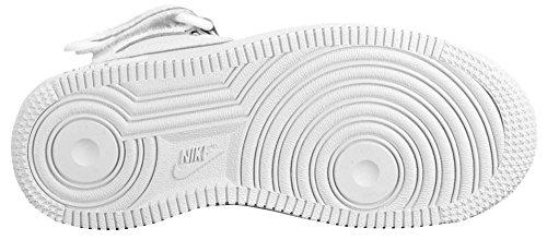 Nike Force 1 Mid (PS) Zapatillas de Baloncesto, Niños Blanco