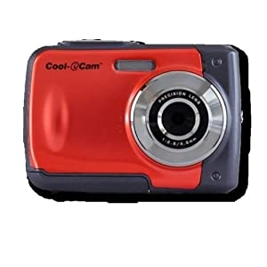 "ION Cool-iCam 8MP S1000 Waterproof Digital Camera 2.4"" Screen RED - The Perfect Camera for Kids!"