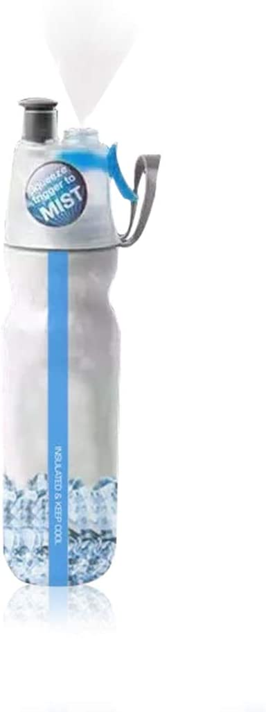 FIGO Health and household supplies Cool Bottle Bicycle Outdoor Sports Spray Bottle Portable Kettle Plastic Double Fitness Bottle Band Bottle with Classic Mist