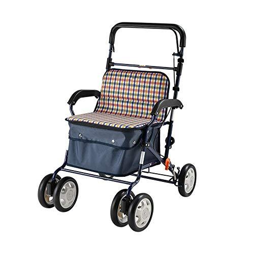 Hand Shower Parking Bracket - Folding Lightweight Walker Adjustable Height with Seat Mobile Assist for The Elderly Shopping Rest Walking Car Shopping Cart