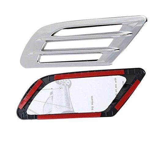Inion/® Air Flow Fender Style sport Pour le c/ôt/é droit et gauche de la voiture Lot de 2 grilles d/'entr/ée d/'air d/écoratives -Autocollantes