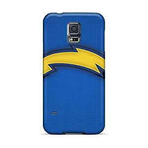 W15-BIGKING Scratch-free Phone Case For Sumsang Galaxy S5- Retail Packaging - San Diego Chargers