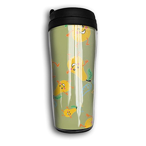 Holy Guacamole Cartoon Travel Curved Coffee Cups Vacuum Insulated Mug With Splash Proof Lid by Sd5l Mugs