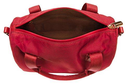 Borsa Pochette Borbonese TRACOLLA SMALL IN JET O.P DETTAGLI CUOIO Rosso Women Bag