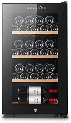 YFGQBCP 84L termoeléctrica rojo y negro del refrigerador de vino con el panel táctil digital de la pantalla de temperatura, funcionamiento silencioso Vino Frigorífico independiente Pequeño Enfriador d