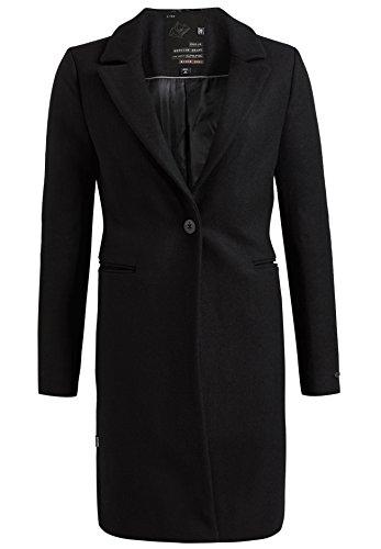 Maniche Lunghe Nero Cappotto Donna Khujo Basic Camicia g8twSqT
