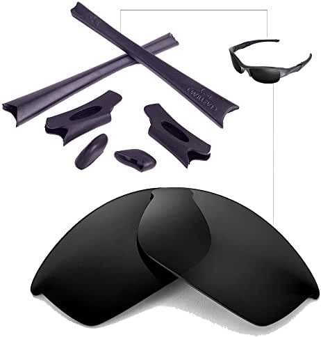 Walleva Replacement Lenses Or Lenses/Rubber Kit for Oakley Flak Jacket Sunglasses - 46 Options Available