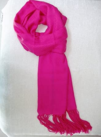 ffd08d9d5 Pure Cashmere Scarf Extra Long, Warm Fuchsia Color, Mother's Day ...