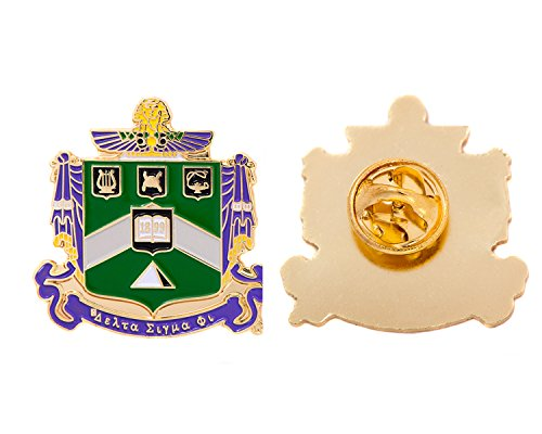 Delta Sigma Phi Fraternity Crest Lapel Pin Enamel Greek Formal Wear Blazer Jacket Delta Sig by Desert Cactus