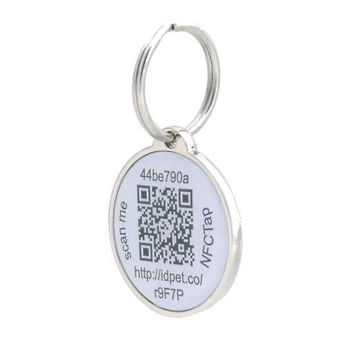 Pettouchid smart pet id tag qr code nfc gps location for Qr code dog tag
