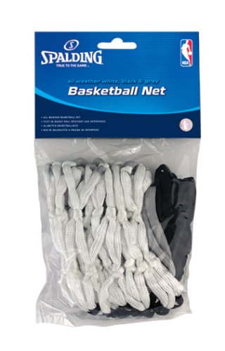 Spalding All-Weather Basketball Net (Black/White/Gray) (Spalding Basketball Net)