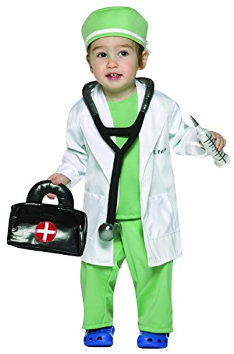 Rasta Imposta Future Doctor Costume, White/Green, 18-24 Months ()