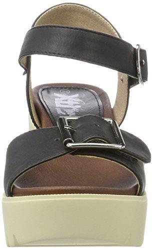 XTI Damen Ladies Sandals Plateausandalen, Schwarz (Black), 35 EU