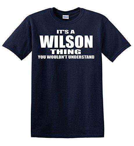 Wilson Thing Navy Blue T Shirt (Small)