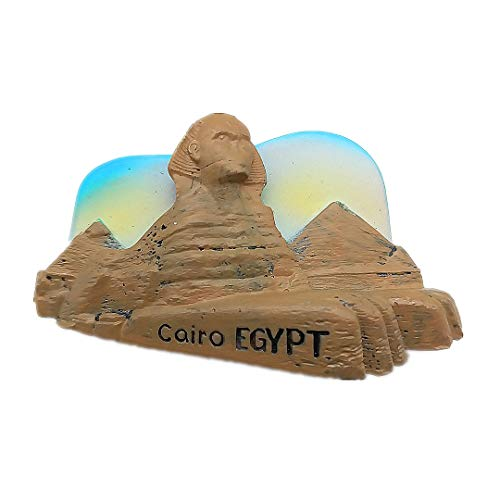 Egypt Magnet Souvenirs Lions Face 3D Refrigerator Fridge Magnets Souvenir Sticker Kitchen Resin]()