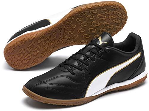 PUMA Capitano II Indoor Shoes (11.5 M US) Black/White