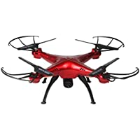 Leegor 4CH 6-axis 2.0 MP HD Camera Quadcopter WiFi FPV 2.4G Gyro Altitude Hold RC Drone With LED Light (Red)