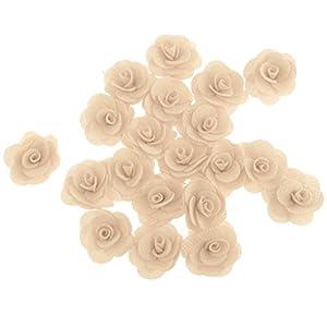 B Blesiya Pack of 20 PCS Artificial Silk Rose Flower Heads For DIY Wedding Venue Decor 4