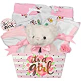 Baby Gift Basket for a Girl - 8 Piece Teddy Bear Baby...