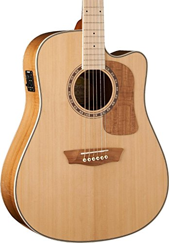 Washburn Woodcraft Series WCSD50SCE Dreadnought Acoustic-Electric Guitar Natural ()