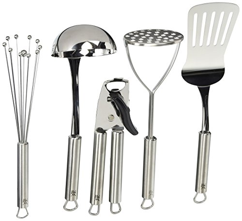 WMF Profi Plus 5-Piece Let's Get Started Tool Set, Silver (Ball Wmf Whisk)