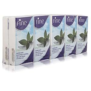 Fine Menthol Pocket Tissue - 10 Pieces