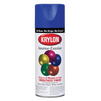 Interior Krylon Paint Exterior Spray (Krylon (5-Ball) Interior-Exterior Paint Flat White - Lot of 6)