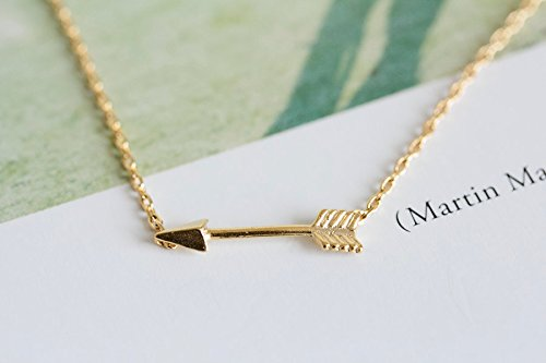 arrow jewelry necklace diamond gold product uncommongoods