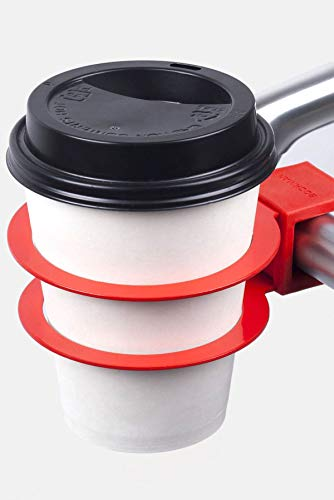 Bookman Bicycle Cup Holder for Handlebars RAGING RED Commuter Cruiser City Bike