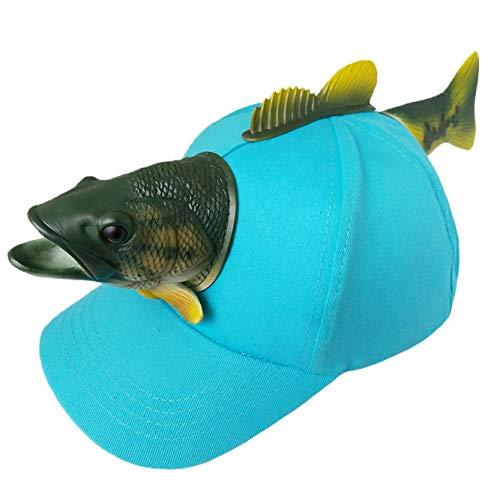 Crazy Gotend Boys Kids 3D Fish Hats Rubber Cartoon Baseball Caps -