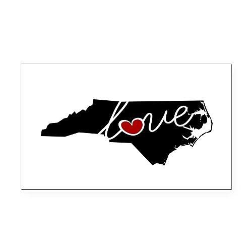 CafePress - North Carolina Love Rectangle Car Magnet - Rectangle Car Magnet, Magnetic Bumper Sticker